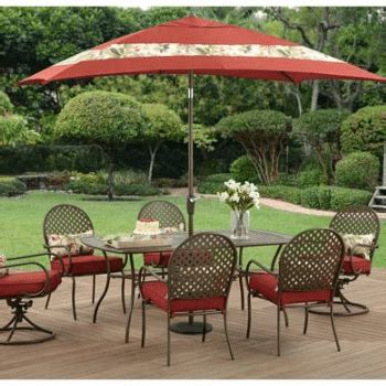 pc patio dining sets  large families outdoor room ideas