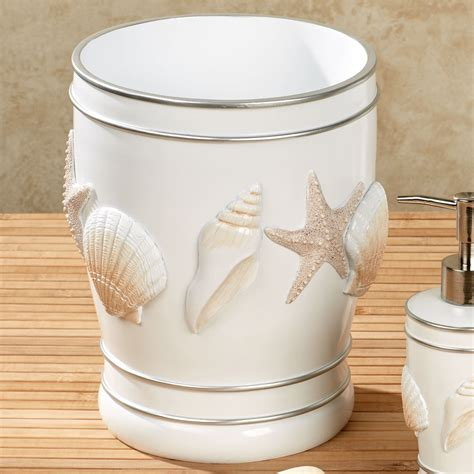 cape cod coastal seashell bath accessories