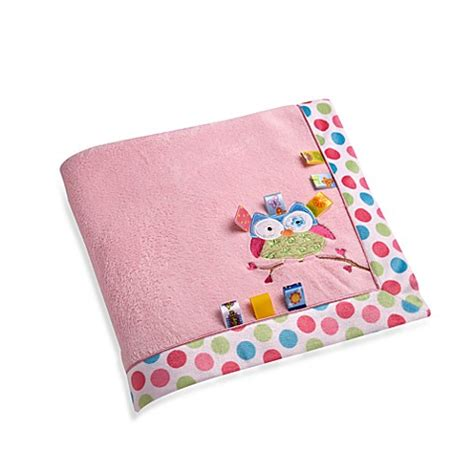 bed bath and beyond blankets taggies owl applique coral fleece blanket bed bath beyond