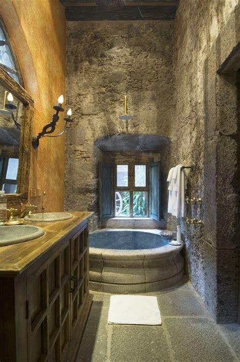 stone bathroom  love thisi  feel  im