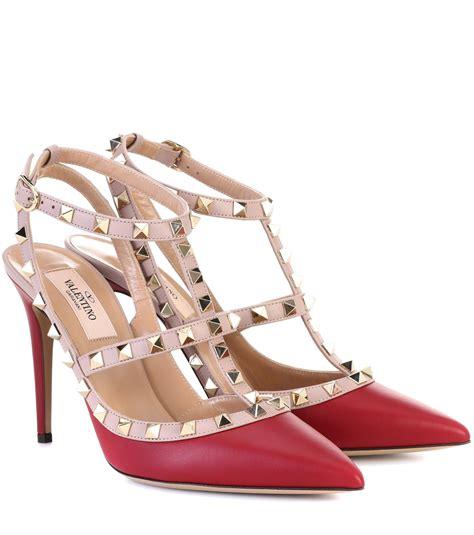 High Heels Valentino lyst valentino garavani rockstud leather pumps in