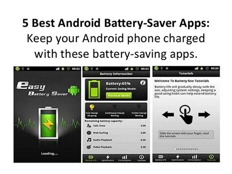 best battery app android 5 best android battery saver apps