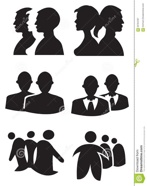 graphics design uses people silhouette design vector illustration stock vector
