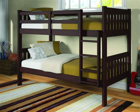 mission bunk bed frame