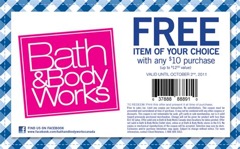 bed bath and body works canadian coupons online coupons in store coupons