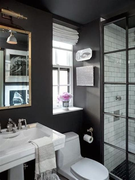 small black and white bathrooms ideas ba 241 o pintura muro consejos de dise 241 o 1419761276
