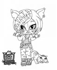 baby monster high coloring pages az coloring pages