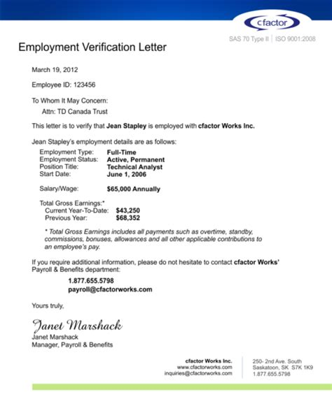 Letter Format Of Employment Verification Cfactor Employment Verification Service Driving New Efficiencies In Human Resources Administration