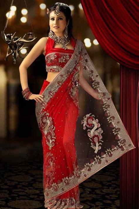 stylish innovative indian bridal saree designs bridal wear