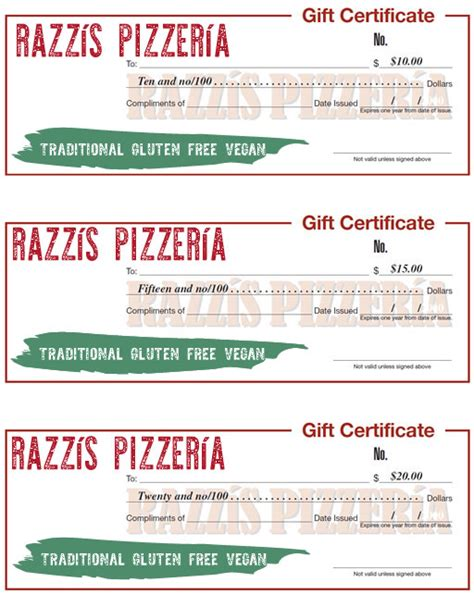 pizza gift certificate pictures to pin on pinterest