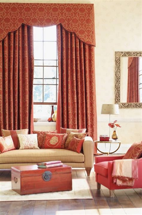 Salmon Colored Curtains Designs 53 Living Rooms With Curtains And Drapes Eclectic Variety