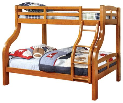 Solid Wood Bunk Bed Solpine Oak Finish Curved Wood Design Solid Wood Bunk Bed Bunk Beds By