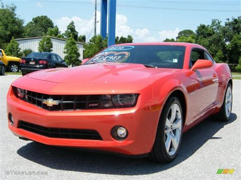 2010 inferno orange metallic chevrolet camaro lt rs coupe 33236292 gtcarlot car color