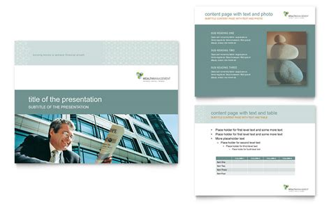 power point themes wealth wealth management services powerpoint presentation