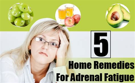 5 home remedies for adrenal fatigue treatments