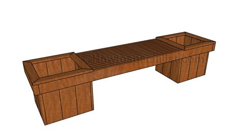 planters bench how to build a planter bench howtospecialist how to build step by step diy plans