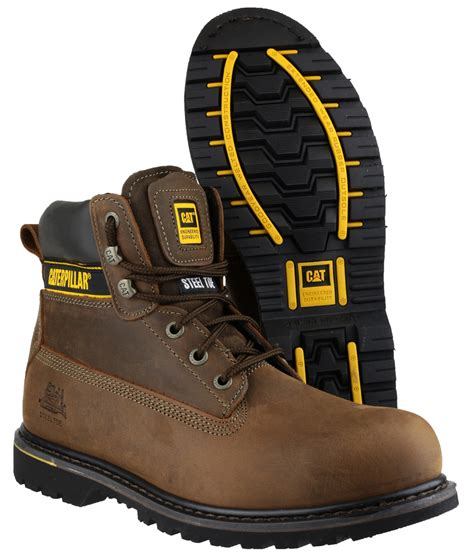 Sepatu Caterpillar Holton Steel Toe caterpillar cat holton mens safety boots steel toe cap goodyear welted sb hro ebay