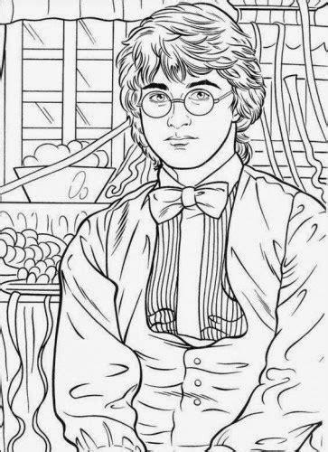 Harry Potter com a varinha mágica - Desenhos preto e