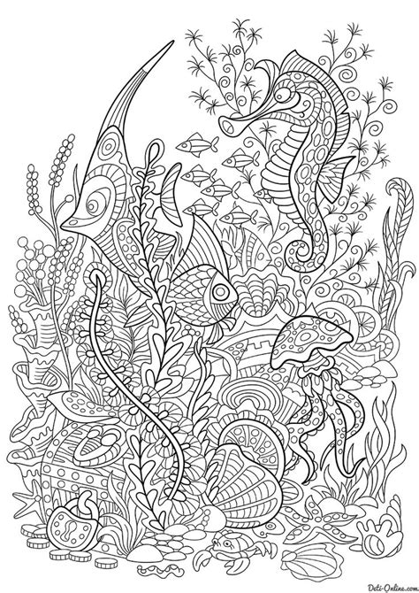 ocean animals coloring pages for adults 296 best images about under the sea coloring pages for