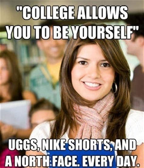College Girl Meme - the sheltered college freshman meme