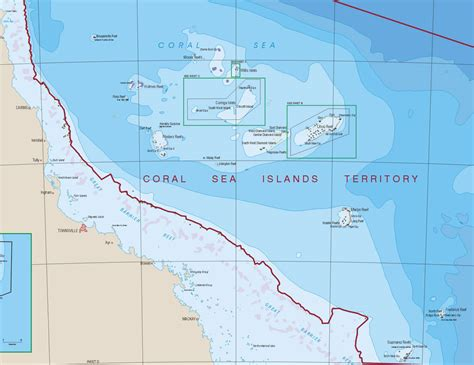 coral sea map coral sea islands geoscience australia