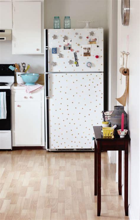 Dots Kitchen by Diy Polka Dot Fridge At Home In