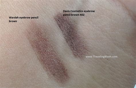 Eyeshadow Pencil Wardah review and swatches a brown eyebrow pencil travelingblush