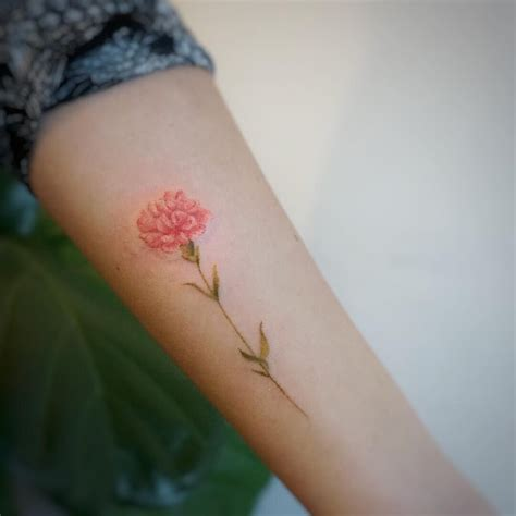 birth flowers tattoos designs carnation your is a
