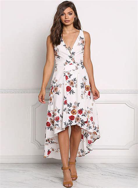 Tie Waist Floral Chiffon Dress irregular chiffon floral printed tie waist v neck midi