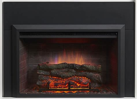 32 quot electric zero clearance fireplace insert with surround