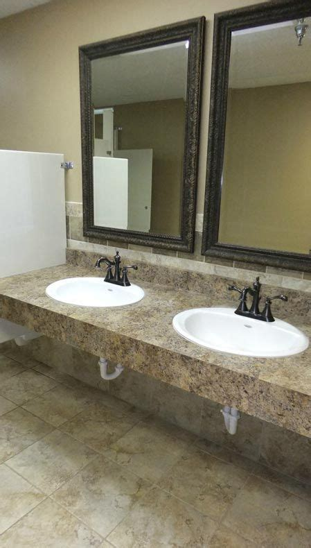 Business Countertops by Commercial Bathroom Not This Countertop But This Style