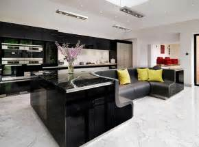 Small Living Room Interior Ideas - kitchen island with built in sofa upgrades stylish home