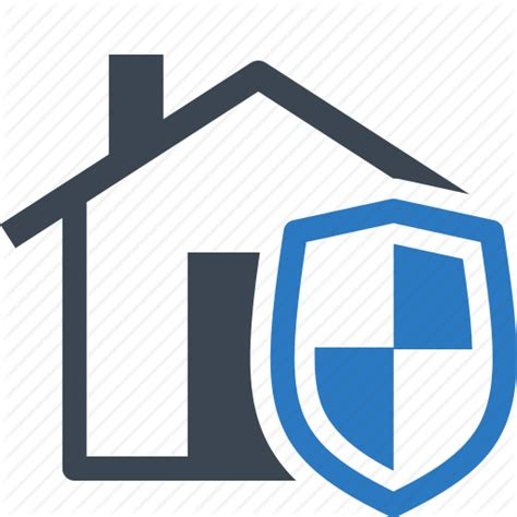 home insurance home protection house shield icon icon