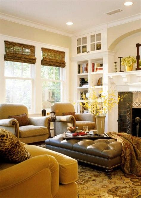 Warm Inviting Living Room Ideas by Mustard Yellow And Bronze Match