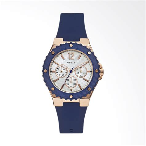 Jam Guess Blue Wanita jual guess w0149l5 overdrive guess rubber stainless
