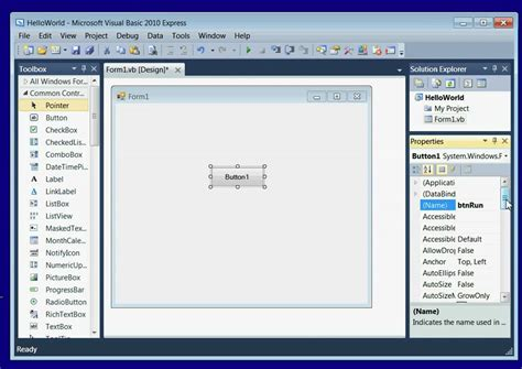 tutorial visual studio 2010 youtube visual basic 2010 tutorial lesson 1 install visual