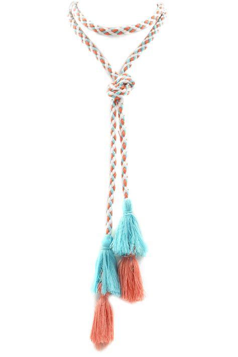 Tassel Choker cotton tassel lariat choker necklace choker necklaces