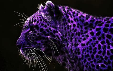 Purple tiger with black dots   Artistic wallpaper