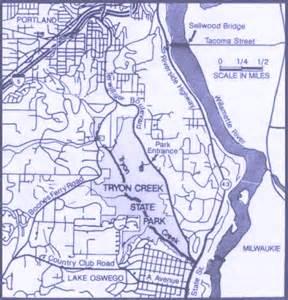 Tryon Creek State Park Map by Tryon Creek Letterboxes