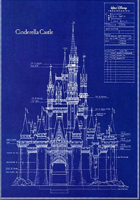 disney imagineering blueprints for cinderella cinderella castle blueprints glitter explosion
