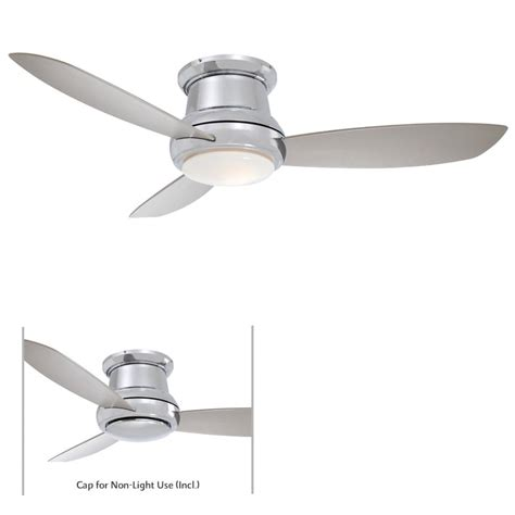 minka aire f518 pn concept ii polished nickel 44 quot ceiling