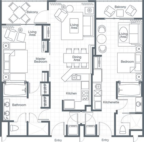 2 bedroom villa floor plans the westin lagunamar ocean resort two bedroom lockoff villa
