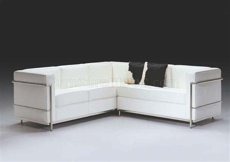 white italian leather ultra modern sectional sofa f02l