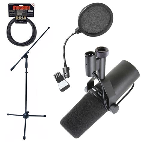 Stand Mic Boom Pop Filter shure sm7b dynamic vocal microphone mic boom stand pop filter and mogami cable ebay