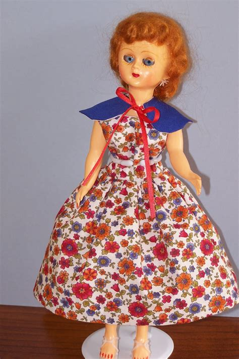 lizzie s arty crafty n dolls dolls finished dress capelet for my 1950 s doll