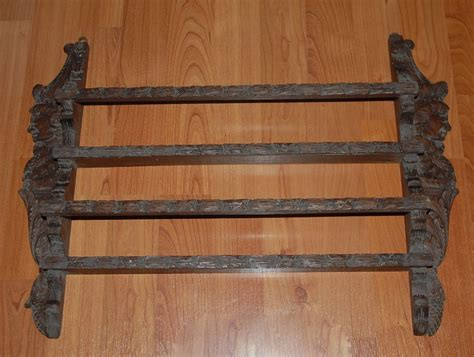 Antique Plate Rack by Antique Carved Wood Figural Wall Display Plate Rack From
