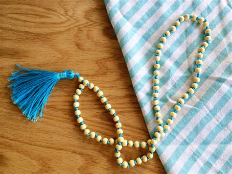 how to make a beaded tassel beaded tassel necklace