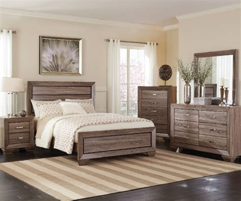 rustic bedroom suites kauffman rustic grayish brown 4 pieces bedroom suite