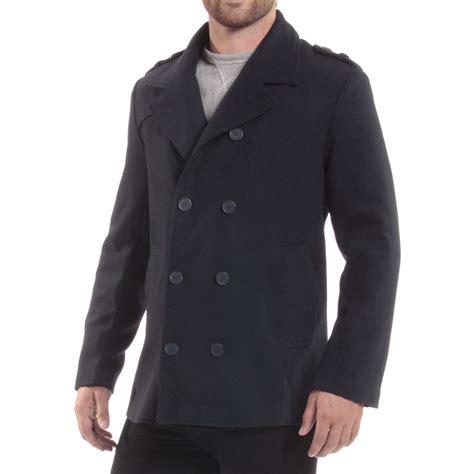 6561 Dress Jaket Coat alpine swiss jake mens pea coat wool blend breasted dress jacket peacoat ebay