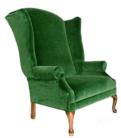 emerald green velvet wingback chair wingback chair from bronner s commercial